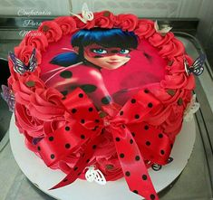 Ladybug Miracolous cake chantilly buttercream