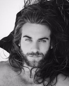 Brock O'Hurn Models men's fashion beautiful eyes bearded men black and white photography Brock Ohurn, Pretty People, Beautiful People, Hair And Beard Styles, Long Hair Styles, Hommes Sexy, Attractive Men, Good Looking Men, Male Beauty