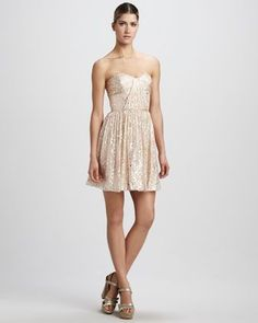 REVEL: Gold Cocktail Dress