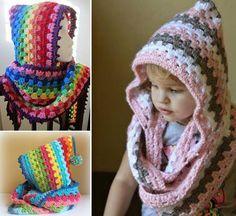 DIY Crochet Cowl Motif capuche gratuit