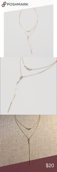 LOFT Pave Leaf Lauriat Necklace Pave Leaf Lariat Necklace from LOFT LOFT Jewelry Necklaces