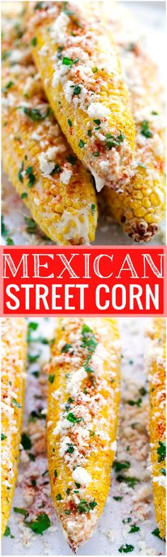 Mexican Street Corn - perfect to serve at barbecues and on Cinco de Mayo! Tender corn with garlic mayo, lime juice, cotija cheese, and cilantro! #cornonthecob #mexicanstreetcorn #cincodemayo   Littlespicejar.com