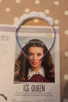 Crochet tiara made from a pattern in December 2013 edition of Simply Crochet