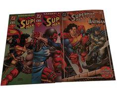 Superman Man of Steel #1 Kenner Limited & Platinum Editions 1995 Set of 3 Mint