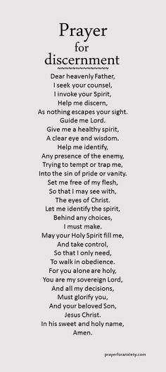 Prayer of discernment