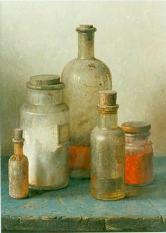 Johannes Hendrik Eversen  Still Life with Bottles  20th century