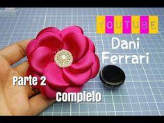 COMO FAZER FLOR BOLEADA COM TAMPA DE AZEITE - TUTORIAL PAP - Dani Ferrari. - YouTube