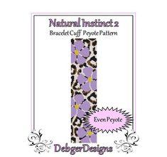 Bead Pattern PeyoteBracelet CuffNatural par FUNPATTERNDESIGNS