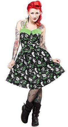 Sourpuss Peggy Horror Frankenstein Wolfman Dress