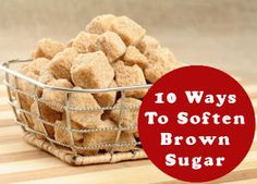 Softening your brown sugar brick Hard Brown Sugar, Soften Brown Sugar, I Love Food, Good Food, Yummy Food, Great Recipes, Favorite Recipes, How To Make Cookies, Baking Tips