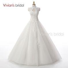 Wunderschönes, günstiges Brautkleid mit Perlen Pailletten in A Linie. Aktuelle Mode 2016, großer Reifrock mit Tüll.