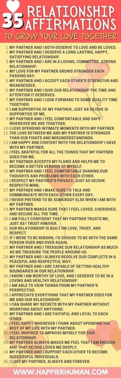 35 Relationship Affirmations to Grow Your Love Together