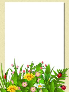 Flower Background Design, Kids Background, Background Design Vector, Frame Border Design, Page Borders Design, Framed Wallpaper, Calendar Wallpaper, Color Flashcards, Powerpoint Background Design