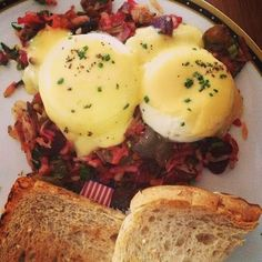 Founding Farmers never disappoints! Red flannel hash with beets ...