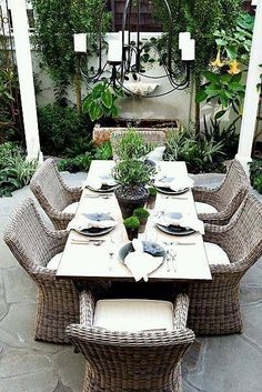 Some Great Suggestions for Springtime Patio Furniture – Outdoor Patio Decor Outdoor Dining Chairs, Outdoor Area Rugs, Outdoor Areas, Outdoor Rooms, Outdoor Living, Outdoor Decor, Wicker Chairs, Room Chairs, Side Chairs