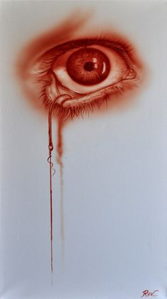 Dr Rev Mayers is an Australian tattoo artist with a passion for creating crimson artworks using nothing but blood. Using a variety of art techniques, he paints incredibly detailed yet somewhat creepy works of art.