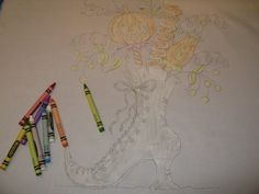 tinting with crayons! Love Crabapple Hill patterns...this is a good tutorial on how to tint