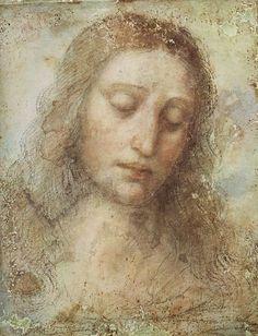 Head of Christ by Leonardo da Vinci #art