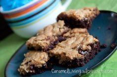 Cookie Caramel Brownies  www.caramelliving.blogspot.com