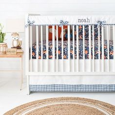 21 Piece Set Woodland Trail Forest Animals Moose Bear Baby Boy Crib Bedding
