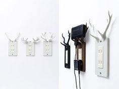 Socket Deer: Power Outlet with Reindeer Horns