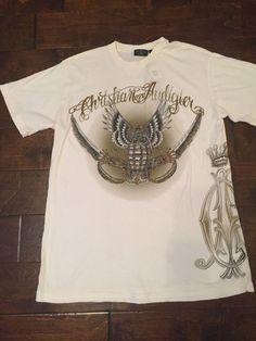 Christian Audigier Mens S/S Embellished T-Shirt, Grenade Size L *NWT* #ChristianAudigier #EmbellishedTee