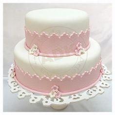 bolos rosa e branco batizado   Flickr - Photo Sharing!