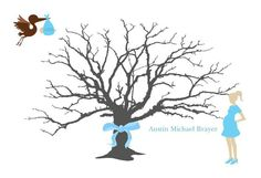 Silhouette Tree with Baby Boy & Expecting Mom by SignatureMoments, $40.00