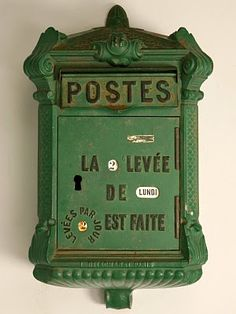 Vintage French Mailbox I need one of these babies for my porch   !