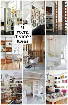If you have a really open space in your home and you want a great room divider, then today I have a few ideas to show you. Sometimes there can be too much open space, or your room needs a boundary or you'd like to create a new feature without blocking… Room Divider Ideas Bedroom, Small Room Divider, Room Divider Bookcase, Living Room Divider, Door Dividers, Office Room Dividers, Diy Room Dividers Ideas, Separating Rooms, Location