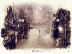 Moon Cityscene Rework by ameshin.deviantart.com on @DeviantArt