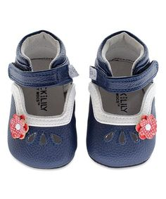 Love this Navy & White Madison Booties on #zulily! #zulilyfinds