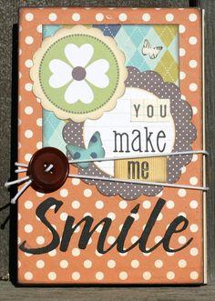 Premade Accordion Brag Book Mini Album  You Make by designstudioL, $14.99