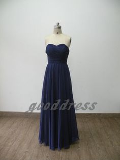 in green    Free shipping Elegant blue sweetheart chiffon ruffled simple floor-length long formal bridesmaid dress evening gown prom dresses. 89.99, via Etsy.