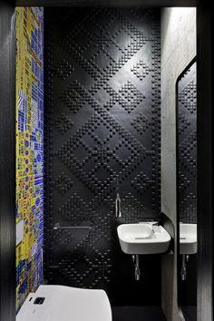 Design idea these unique lighted mirrors illuminate the for Bathroom remodel 85382