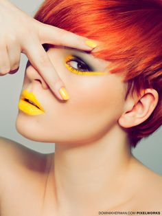 Dominik Herman - Yellow on Makeup Arts Served