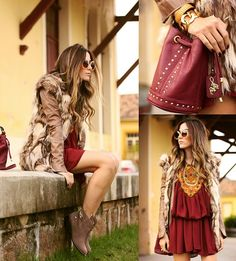 Moikana Dress, Lilly's Closet Bag, Choies Vest