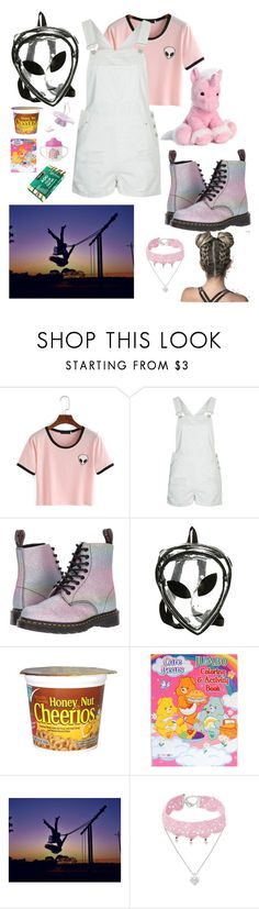 """""""Park Play"""" by oceanforthestars ❤ liked on Polyvore featuring Topshop, Dr. Martens, Giorgio Armani, National Geographic Home and Design Lab"""