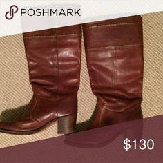 Size 7 Frye boots Size 7 Frye Jane stitch boots Frye Shoes Heeled Boots