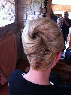 wedding hair and add some orchids into the hole