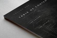 Book Layout/Design: Volume I - The Beginning by Nina Zivkovic, via Behance