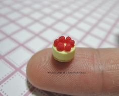 Dollhouse Miniature Quarter Scale Strawberry Cheesecake - MADE TO ORDER. $12.00, via Etsy.