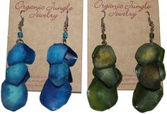 Fishscale Earrings - Made in Peru by Sanyork Fair Trade $12  Light and stylish from an unexpected source!