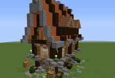 Detailed Medieval Fantasy Small House GrabCraft Your number one source for MineCraft buildings blueprints tips ideas