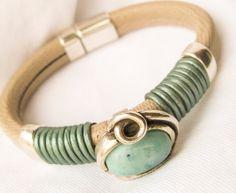 Leather Regaliz Bracelet by Vynyard on Etsy, $33.00