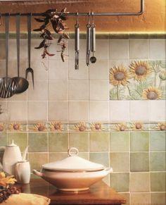 Arredare la cucina country cucine in legno naturale mobili - Piastrelle per cucina in muratura 10x10 ...