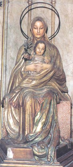 Notre-Dame-des-Oliviers / Our Lady of Olives (Murat, Cantal, France) Catholic Medals, Catholic Art, Catholic Saints, Religious Art, Religious Images, Roman Catholic, Divine Mother, Mother Mary, Fra Angelico