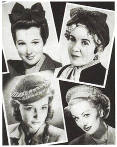 Vintage Knitting & Crochet Pattern for a 1940's Turban and Halo Hat  by A PDF for Immediate Digital Delivery by ickythecat on Etsy https://www.etsy.com/listing/231244532/vintage-knitting-crochet-pattern-for-a