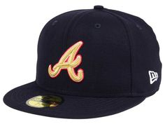 631f7bc68ae Atlanta Braves New Era MLB Exclusive Gold Patch 59FIFTY Cap