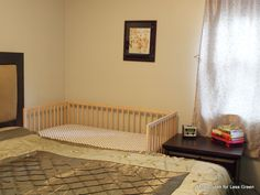 Creating a side sleeper from a traditional cot.